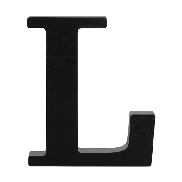 Černé dřevěné písmeno Typoland L