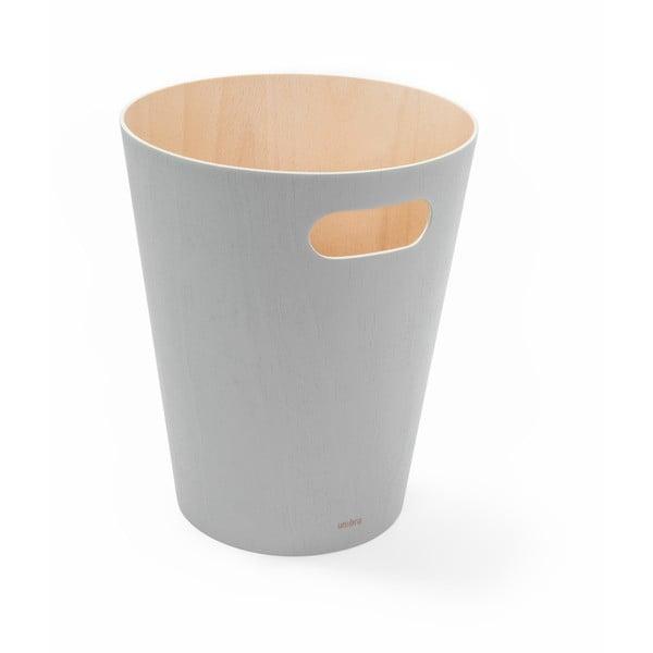 Světle šedý odpadkový koš Umbra Woodrow, 7,5l
