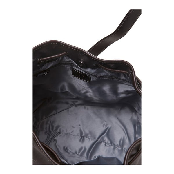 Kožená kabelka Canguru Bucket, hnědá