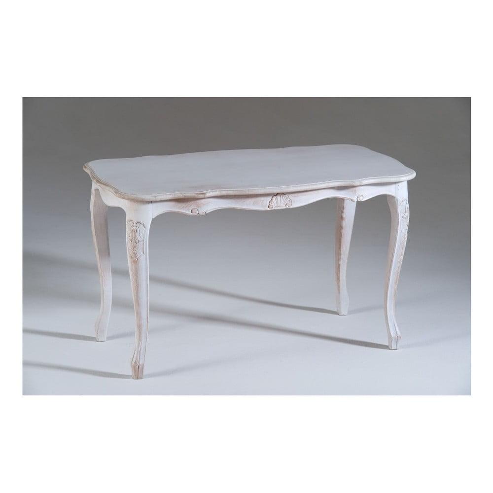 Bílý dřevěný odkládací stolek Castagnetti Marine