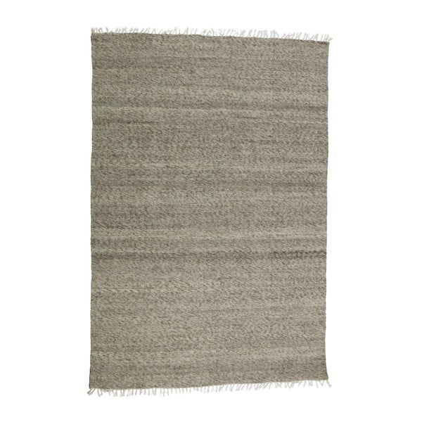 Hnědý vlněný koberec De Eekhoorn Fields, 240x170cm