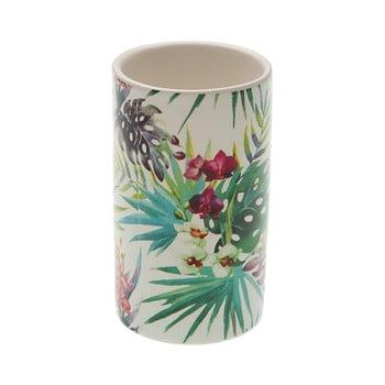 Suport din ceramică pentru periuța de dinți Versa Flower, ø 6,5 cm de la Versa