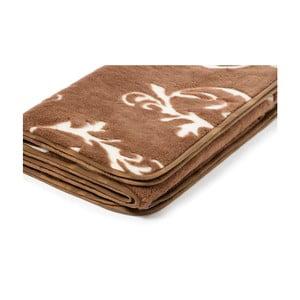 Hnědá deka z velbloudí vlny Royal Dream Gothic, 160x200 cm
