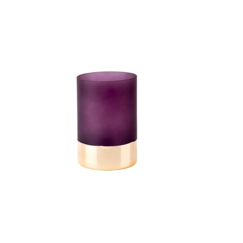 Fialovo-zlatá váza PT LIVING Glamour, výška 15 cm