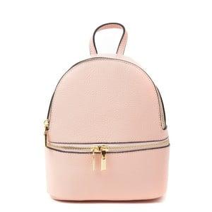 Růžový kožený batoh Renata Corsi Suelo
