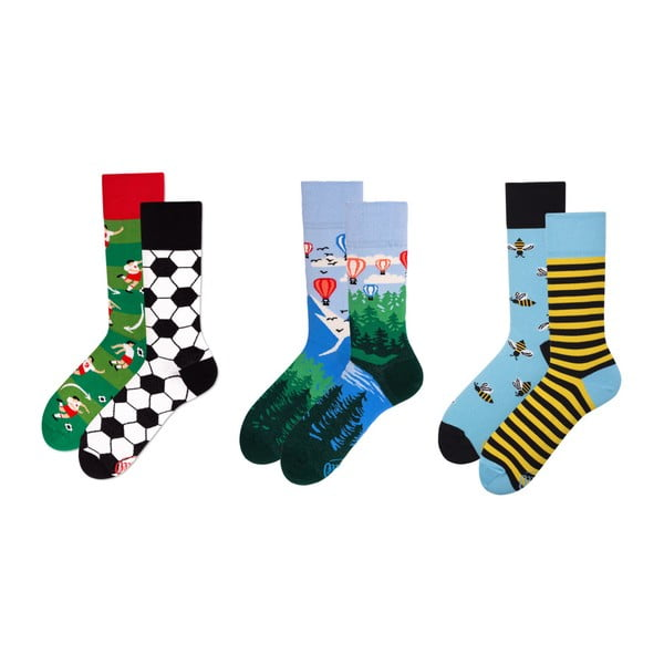 Sada 3 párov ponožiek v darčekovom balení Many Mornings Adventure, veľ. 43–46