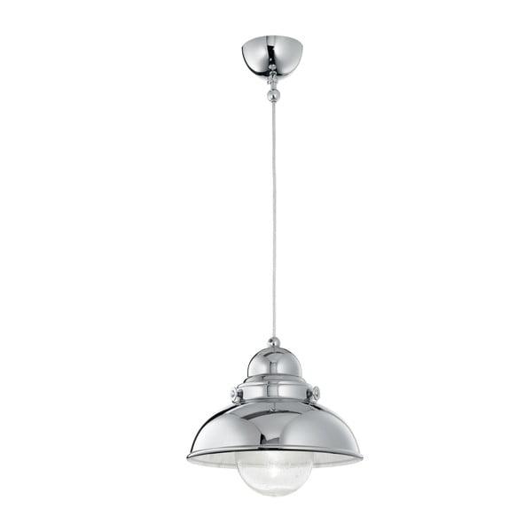 Závěsné světlo Crido Loft Chrome, 43 cm