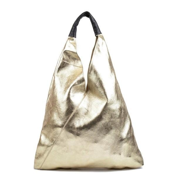 Kožená kabelka ve zlaté barvě IsabellaRhea Duroto