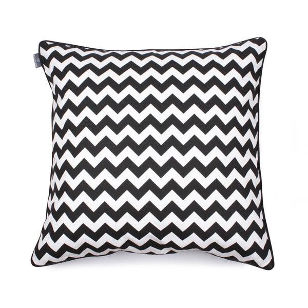 Czarno-biała poszewka na poduszkę WeLoveBeds Zig Zag, 60x60 cm