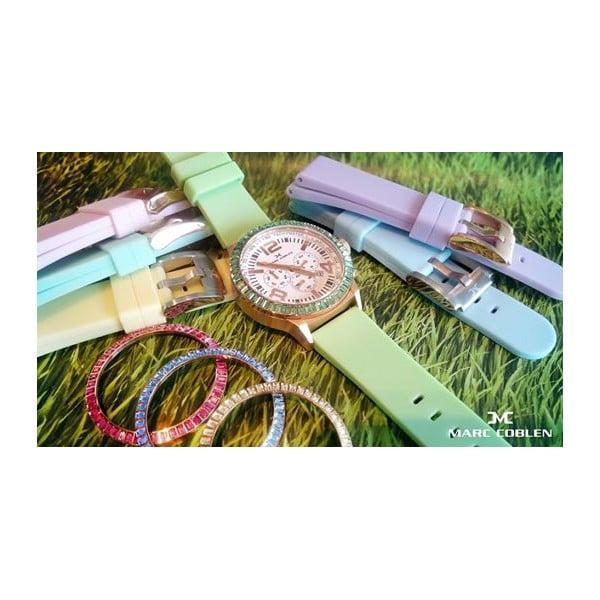 Dámské hodinky Marc Coblen s páskem a kroužkem navíc P88