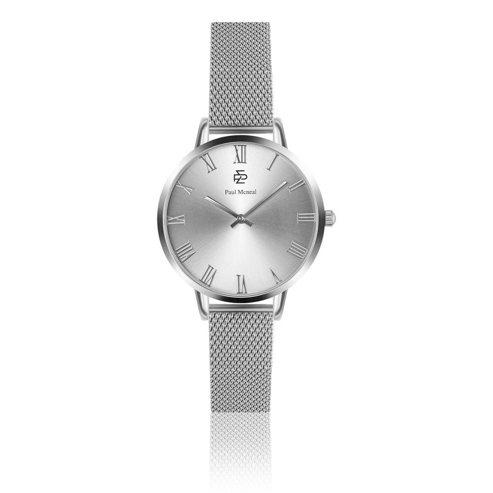 Dámské hodinky s páskem z nerezové oceli ve stříbrné barvě Paul McNeal Sissio