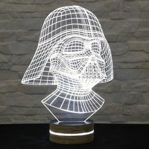 3D stolní lampa Darth Vader