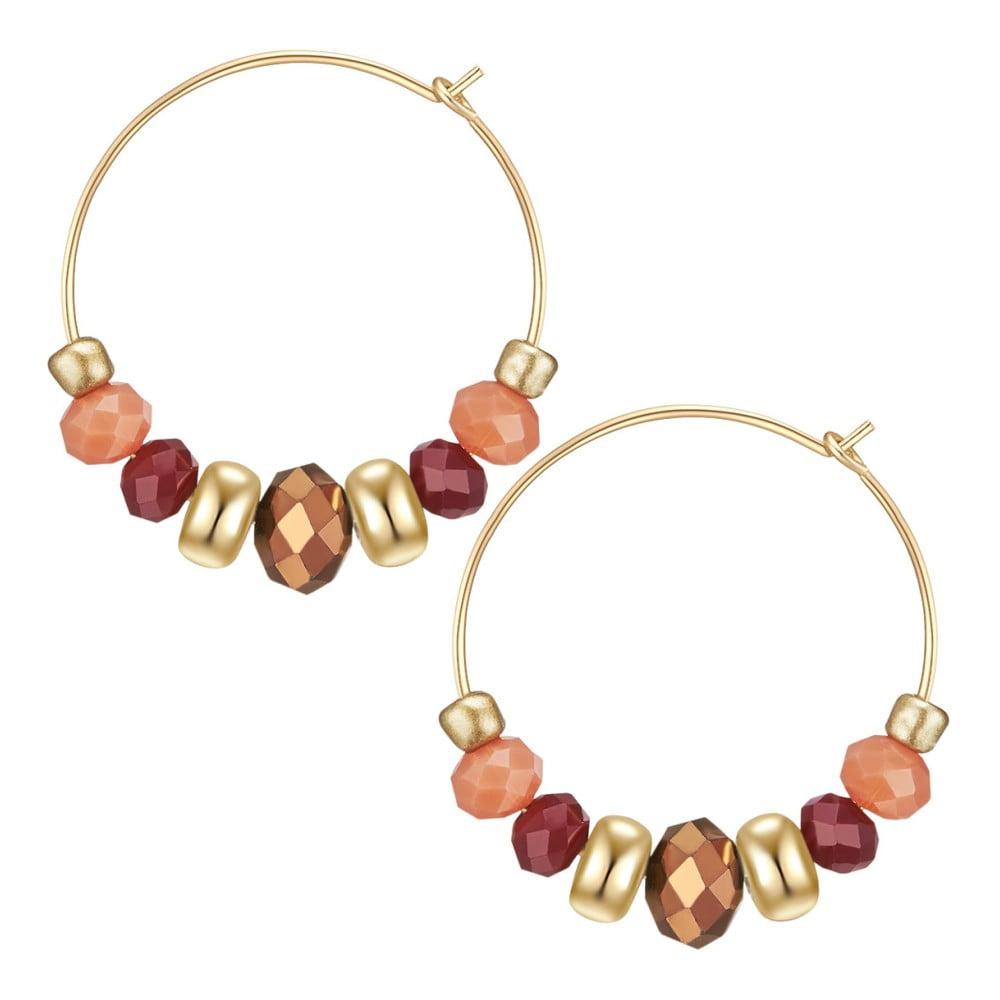 Dámské kruhové náušnice ve zlaté barvě Tassioni Amila