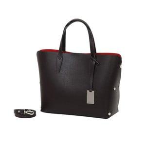 Tmavě hnědá kabelka z pravé kůže Andrea Cardone Dettalgio