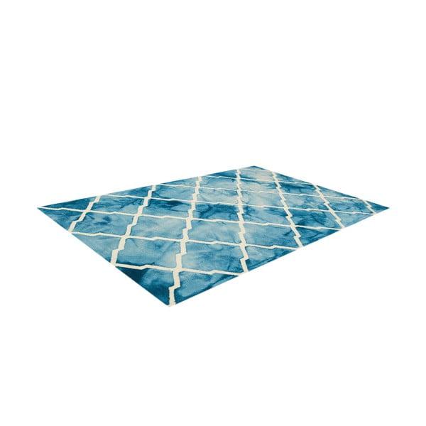Ručně tuftovaný modrý koberec Bakero Batik, 153x244cm