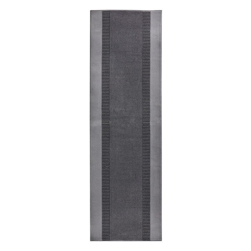 Šedý běhoun Hanse Home Monica, 80x300 cm