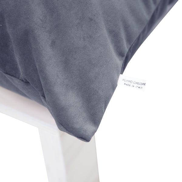 Křeslo s polštárovými opěrkami Tanzania Gray