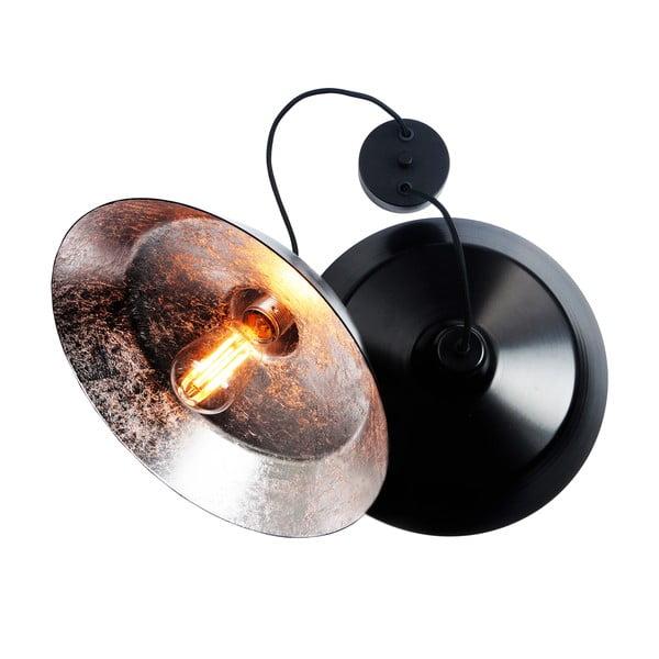 Závěsné svítidlo se 2 černými kabely a stínidly v černé a stříbrné barvě Bulb Attack Cinco