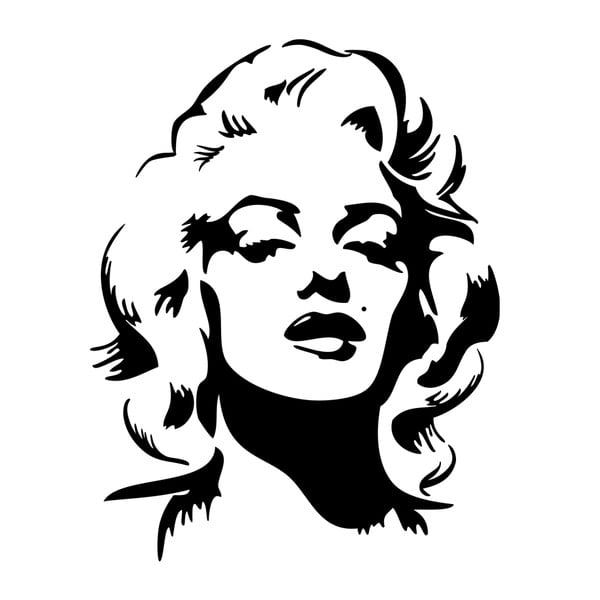 Samolepka Marylin Monroe Portrait