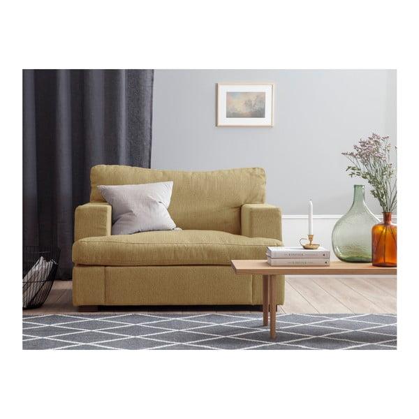 Hořčicově žluté křeslo Windsor & Co Sofas Daphne