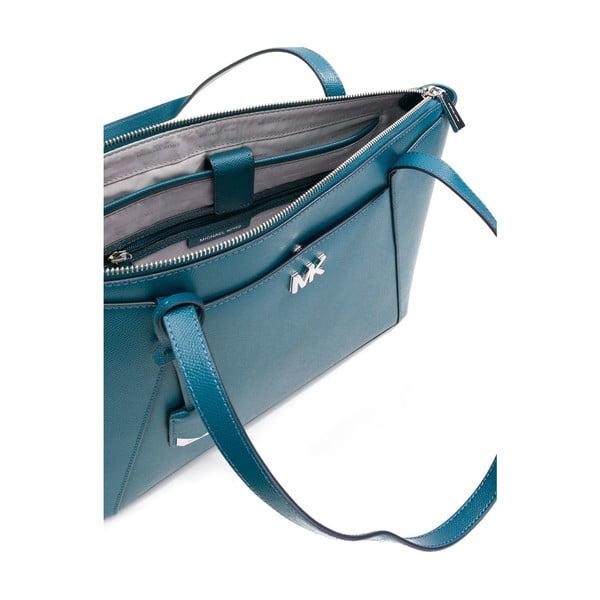 Modrozelená kožená kabelka Michael Kors Maddie