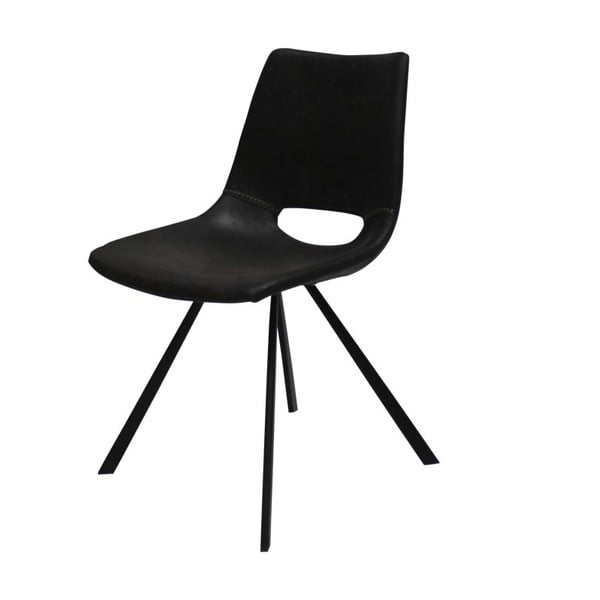 Černá jídelní židle s černým podnožím Canett Coronas