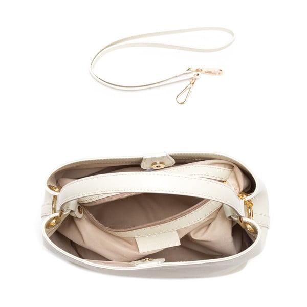 Kožená kabelka Vittoria, béžová