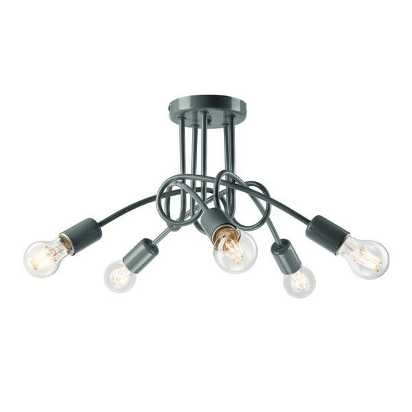 Camilla szürke ötágú mennyezeti lámpa - Lamkur