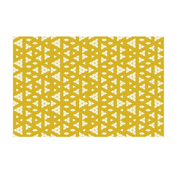 Vinylový koberec Triangle Adiction Ocre, 133x200 cm