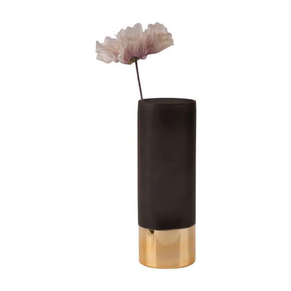 Černo-zlatá váza PT LIVING Glamour, výška 25 cm