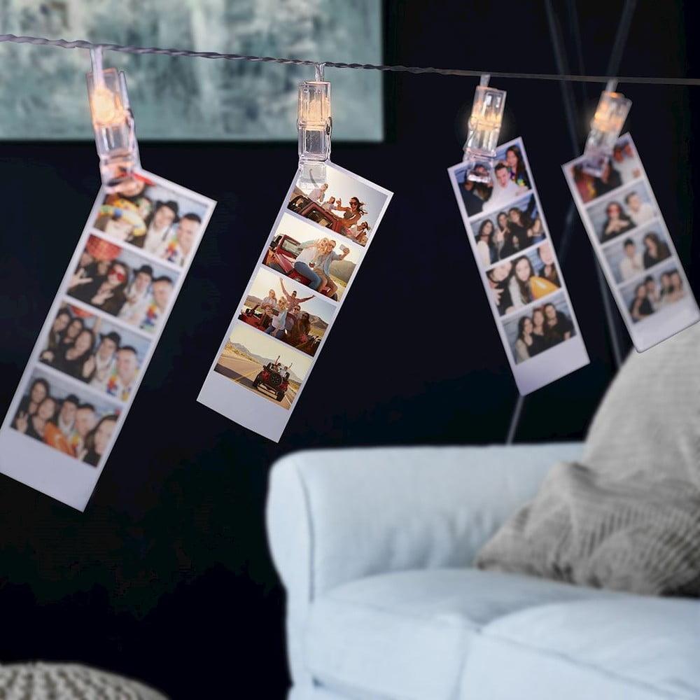 Sada dekorativních LED spon na fotografie DecoKing, 60 ks