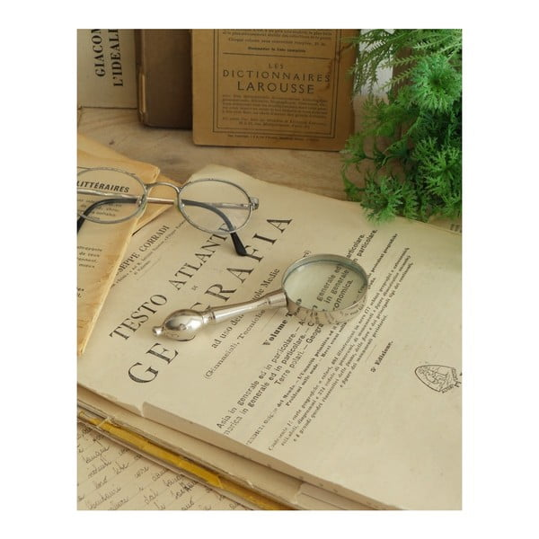 Stříbrná lupa na čtení Orchidea Milano Classic