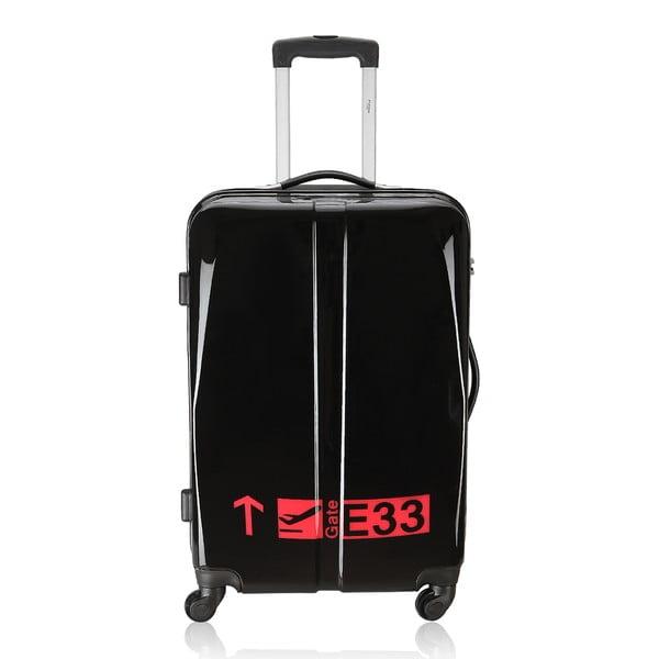 Sada 3 kufrů Integre Black/Pink, 114 l/75 l/46 l
