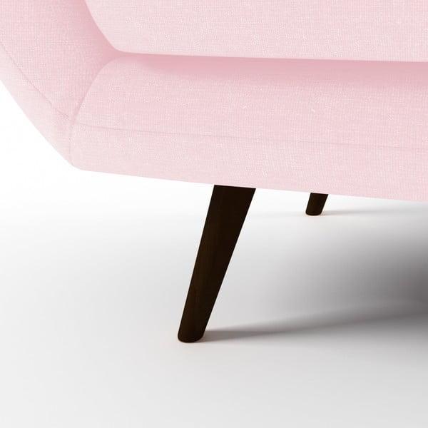 Pastelově růžová 3místná sedačka Vivonita Kennet
