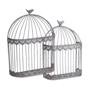 Sada 2 nástěnných dekorativních klecí Ewax Cages