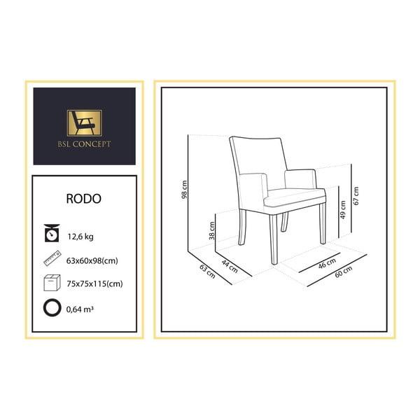 Krémové křeslo BSL Concept Rodo