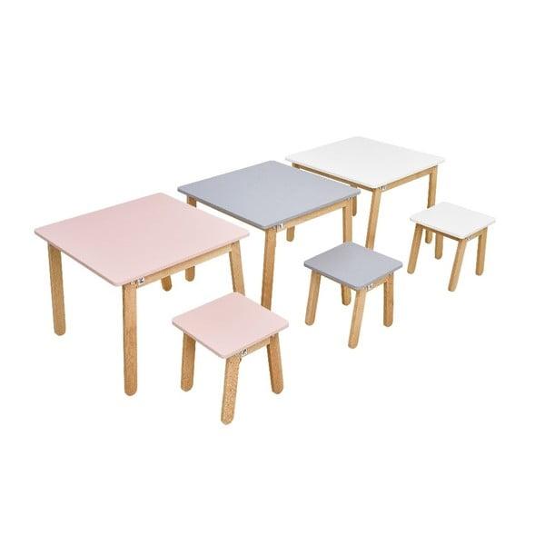 Světle dětská růžová stolička BELLAMY Woody