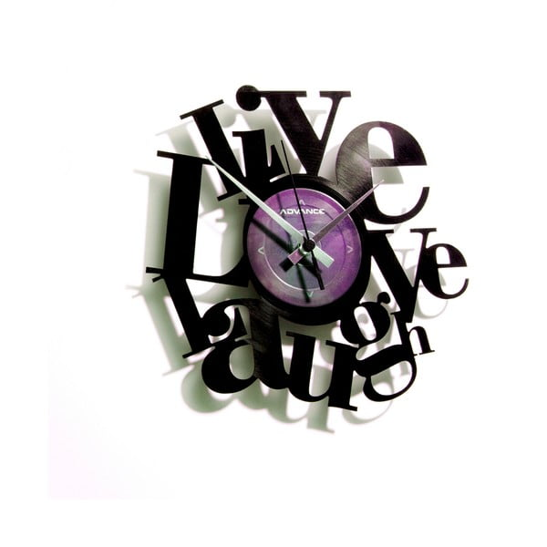 Vinylové hodiny Live, Love, Laugh