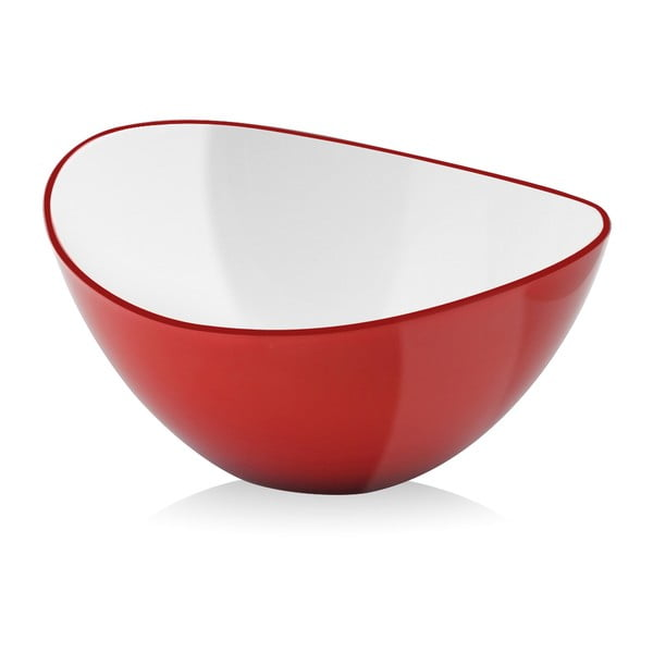 Bol pentru salată Vialli Design, 25 cm, roșu