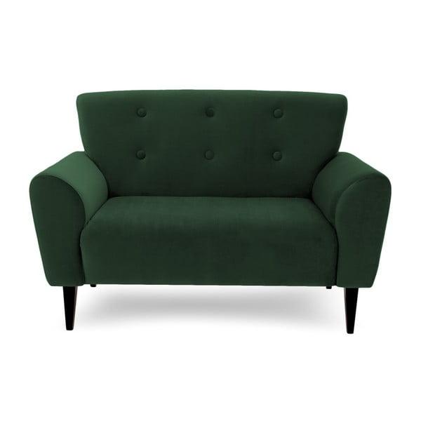 Canapea cu 2 locuri Vivonita Kiara, verde închis