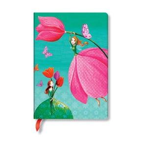Zápisník s tvrdou vazbou Paperblanks Springtime, 12x17cm