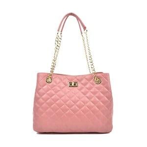 Světle kožená růžová kabelka Isabella Rhea Maam Rosso