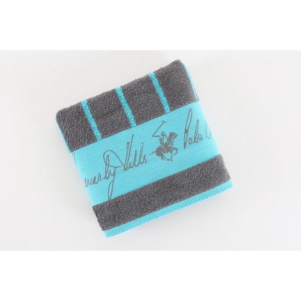 Bavlněný ručník BHPC 50x100 cm, modro-šedý