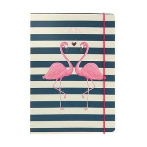 Zápisník A5 Go Stationery Flamingo Stripes