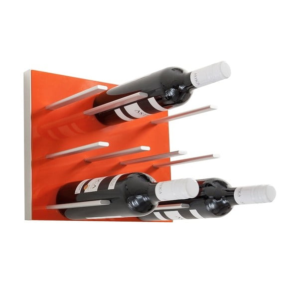 Nástěnný stojan na víno STACT, oranžový