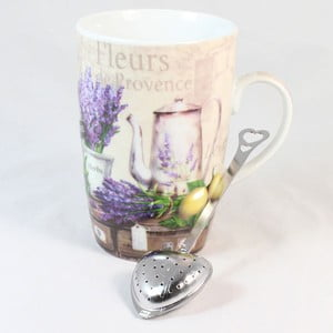 Hrnek s čajovým sítkem Fleur de Provence