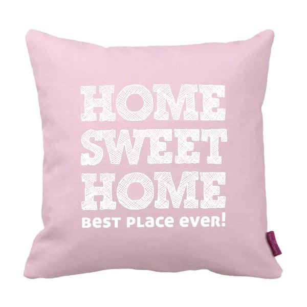 Růžovobílý polštář Homemania Home Pink, 43x43cm