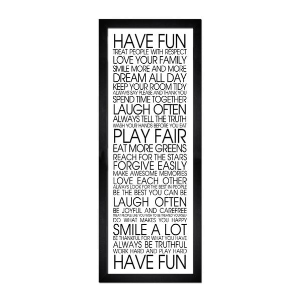 Obraz Styler Modernpik Have Fun, 24 x 68 cm