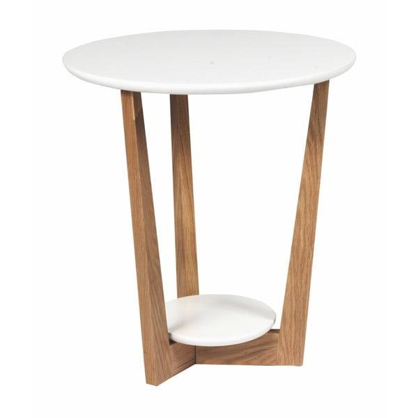 Arild dohányzóasztal tölgyfa lábszerkezettel , Ø 50 cm - Folke