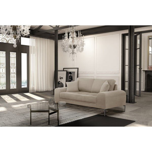 Canapea cu 2 locuri Corinne Cobson Dillinger, gri - bej